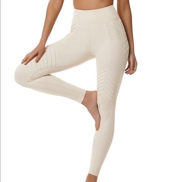 4aaf7d066bd12 L'urv Sportswear Pants | Lurv New Beginnings Moto Legging Cream ...